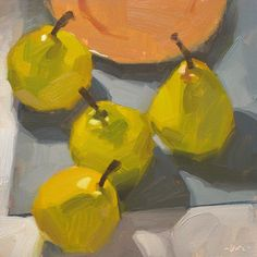 Carol Marine's Painting a Day: Aimless Pears