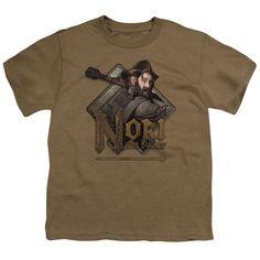 The Hobbit/Nori Short Sleeve Youth 18/1 in Safari