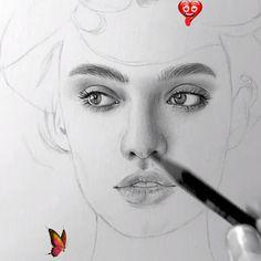Karakalem Portre Kadın @claudia_draw (Instagram) Kadın Çizimi @claudia_draw (Instagram)<br> Türkçe Anlatım / English altyazı    -Bu ders,çizim konusunda çok az bilgiye sahip olmaktan ileri sanat yaratmaya ve çizim temellerini derinlemesine kavramanıza yardımcı olacaktır.   - Peki senin için başka neler var ?    -Kursun 16 bölümünün tümüne anında erişeceksiniz    -Kurs sizi adım adım ilerletecek bir çok farklı stilde çizim işlemini geliştirecek şekilde ayarlandı.    -16… Realistic Pencil Drawings, Art Drawings Sketches Simple, Portrait Sketches, Pencil Art Drawings, Cool Drawings, Pencil Portrait Drawing, Drawing Portraits, Eye Drawing Tutorials, Drawing Techniques