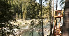 White Water Lodge has direct access and a great view of  the Icicle River