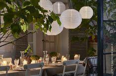 Garden lighting decoration ideas using lanterns Outdoor Rooms, Outdoor Dining, Outdoor Furniture Sets, Outdoor Decor, Outdoor Ideas, Small Gardens, Outdoor Gardens, Garden Lighting Decoration, Dream Garden