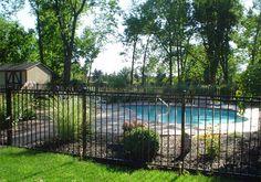 pool fencing black - Google Search