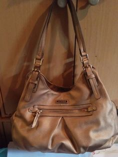 0aaa0b044907b Dana Buchman Purse. Solid Gold Double Strap Handbag.