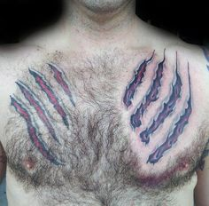 Bear Claw Tattoo Designs For Men - Sharp Ink Ideas Bear Claw Tattoo Designs For Men - Sharp Ink Ideas - secret cult 😈 ( Eagle Chest Tattoo, Tribal Chest Tattoos, Tribal Armband Tattoo, Hand Tattoos, Bear Paw Tattoos, Sleeve Tattoos, Owl Tattoo Design, Tattoo Designs Men, Claw Tattoo