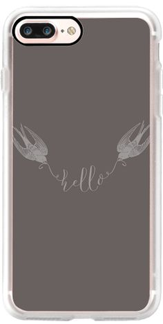 Casetify iPhone 7 Plus Classic Grip Case - Swallows by lescapricesdefilles #Casetify