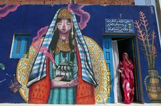 150 Street Artists From 30 Countries Turn Old Tunisian Village Into Outdoor Art Gallery Read more at http://museperk.com/150-street-artists-from-30-countries-turn-old-tunisian-village-into-outdoor-art-gallery/#xVML3YsIYtObLixb.99