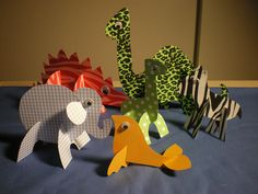 3D Paper Animals by Ms Katherine's Creativity Club, via Flickr