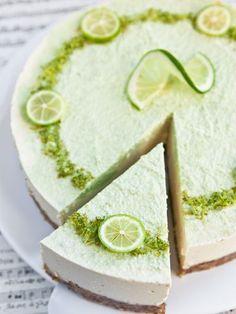 Cheesecake au citron vert (sans cuisson) - Recette de cuisine Marmiton : une recette