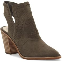 Vince Camuto Binks Block Heel Whipstitched Booties (9.455 RUB) ❤ liked on Polyvore featuring shoes, boots, ankle booties, tornado gray, gray booties, block heel boots, gray boots, vince camuto boots and vince camuto booties