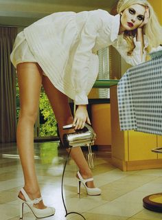 Caroline Trentini in Miu Miu photographed by Miles Aldridge for Vogue Italia, March Fashion Art, Editorial Fashion, Fashion Models, Fashion Beauty, Style Fashion, Editorial Photography, Fashion Photography, Miles Aldridge, Caroline Trentini