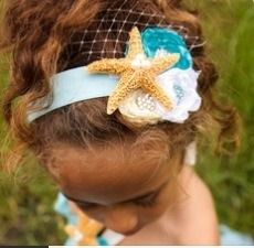 DIY Seashell Headband #budgetbeautiful. Hot Glue Gun Treasured Seashells, Headband Your Done! :)