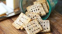 Almond pulp crackers. Excellent way to use the pulp left over from making homemade almond milk.