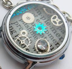 Resin Watch Case Steampunk Pendant Implement   by wiggelhevin, $25.00