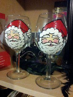 Hand-painted wine glass