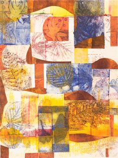 Nature Prints (including Gelli prints as collage elements in monotypes) - Arlene Bandes