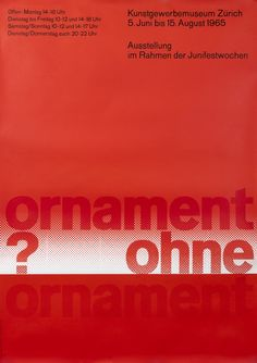 Ornament Ohne by Hamburger, Jorg | Vintage Posters at International Poster Gallery