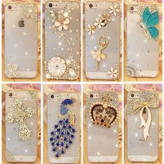 Rhinestone Case Cover For Apple Iphone 6, 6S Plus, 7, 7Plus, 5, 5S, 4, 4S - Crystal Diamond Hard Back Mobile phone Case Cover //Price: $7.95 & FREE Shipping //     #hashtag1