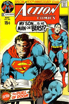 Action Comics #400 cover by Neal Adams