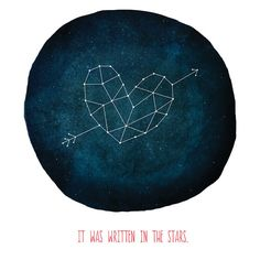 In the stars // Art Print Constellation Home Decor Love by PenelopeandPip on Etsy, $25.00
