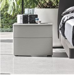 Curved 2 Drawer Bedside Cabinet | Colour Choice | Robinsons Beds