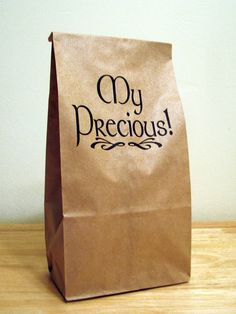 5 - MY PRECIOUS Lord of the Rings Inspired Humorous Paper Bags brown bags,kids lunch,food storage,lunch container,kitchen storage,gag gift