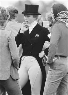 Princess Anne at the European Eventing Championships at Burghley, Lincolnshire, 4 September 1971 - when at the age of 21, with her horse 'Doublet' [a thoroughbred gelding presented to the Princess Royal as a gift from her mother, Her Majesty The Queen, Elizabeth II], she won a Gold Medal, and was voted the 1971 BBC Sports Personality of the Year.