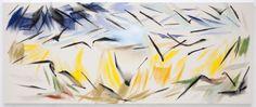 Korenveld met kraaien van Robert Zandvliet