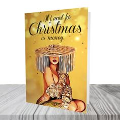 Cardi B - Christmas Card - Christmas Pun - Celeb Cards - Ice Me Out - Cardi B - Okurrr Christmas Puns, Funny Christmas Cards, Christmas Crackers, Birthday Cards For Boys, Cardi B, Marketing And Advertising, Laugh Out Loud, Handmade Items, Greeting Cards