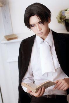 Reika as Rivaille. Shingeki no Kyojin cosplay. Taken from Reika's Facebook page♥