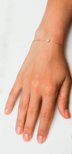 Birthstone Bracelet - Rose gold Bracelet - Personalized Birthstone Bracelet- Birthstone Jewelry - Thin Gold Bracelet - Dainty Gold Bracelet par eleajewelry sur Etsy https://www.etsy.com/fr/listing/196153069/birthstone-bracelet-rose-gold-bracelet