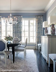 Andrea Brooks Interiors | Benjamin Moore November Skies | Dining Room
