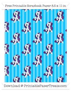 Deep Sky Blue Striped Large  Rarity Pattern Paper