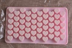 small DIY silicone mold 55 lattices heart chocolate mold ice cube tray biscuit candy mold