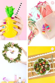 Get ready for summer with these fun, colorful DIY projects for your home, gifts, or for yourself! Includes everything from nail art to home decor.