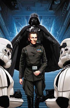 Vader and Tarkin /by ?? #starwars #art