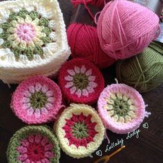Granny Flowers, Granny Squares, Cath Kidston Colours