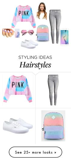 """""""Light Pinks and Blues"""" by zeniboo on Polyvore featuring Chicnova Fashion, Vans, Samsung, women's clothing, women's fashion, women, female, woman, misses and juniors"""