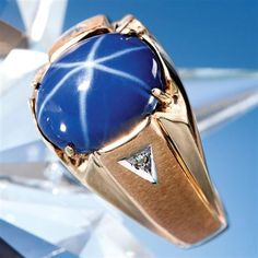 Astos Lab Star Sapphire & Diamond Ring