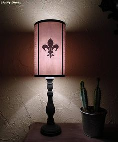 Vintage tattoos lampshade lamp shade by spooky shades tattooed evil flowers fleur de lys light pink lampshade lamp shade spookyshades fleurdelys mozeypictures Image collections