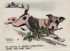 Morgan Dennis Steel Etching Wire Fox Terrier  Dog Scotty | eBay. And a very merry Christmas to you !