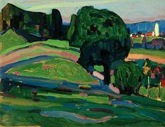 Wassily Kandinsky - Landscape Near Murnau