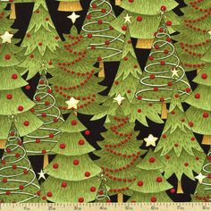 Santa's Gifts Trees Cotton Fabric - Black 1862-67492-973S by Beverlys.com Christmas Ideas, Christmas Tree, Santa Gifts, Christmas Fabric, Tree Skirts, Cotton Fabric, Crafting, Trees, Holiday Decor