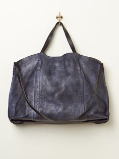 Free People Dip Dye Leather Tote