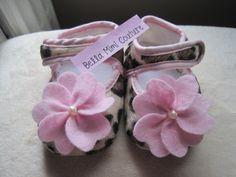 Infant Leopard Crib Shoes/ Infant Leopard by BellaMimiCouture, $13.50