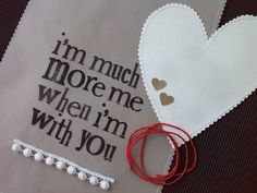 valentine day kesica a4+white ribbon+heart