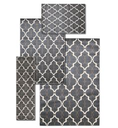 Nova 4 Piece Hand Crafted Gray Area Rug Set