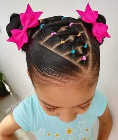 Easy Toddler Hairstyles, Kids Curly Hairstyles, Baby Girl Hairstyles, Natural Hairstyles For Kids, Pretty Hairstyles, Braided Hairstyles, Eva Hair, Easy Little Girl Hairstyles, Girl Hair Dos
