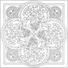Welcome to Dover Publications:  Creative Haven Celestial Mandalas Coloring Book