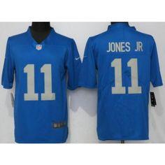 Men s Detroit Lions  11 Marvin Jones Jr Limited Blue Throwback Retired Vapor  Untouchable Jersey f87e099e1