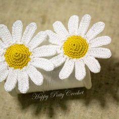 Mini Crochet Daisy by Happy Patty Crochet